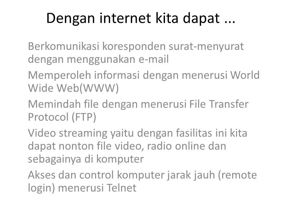 Dengan internet kita dapat...