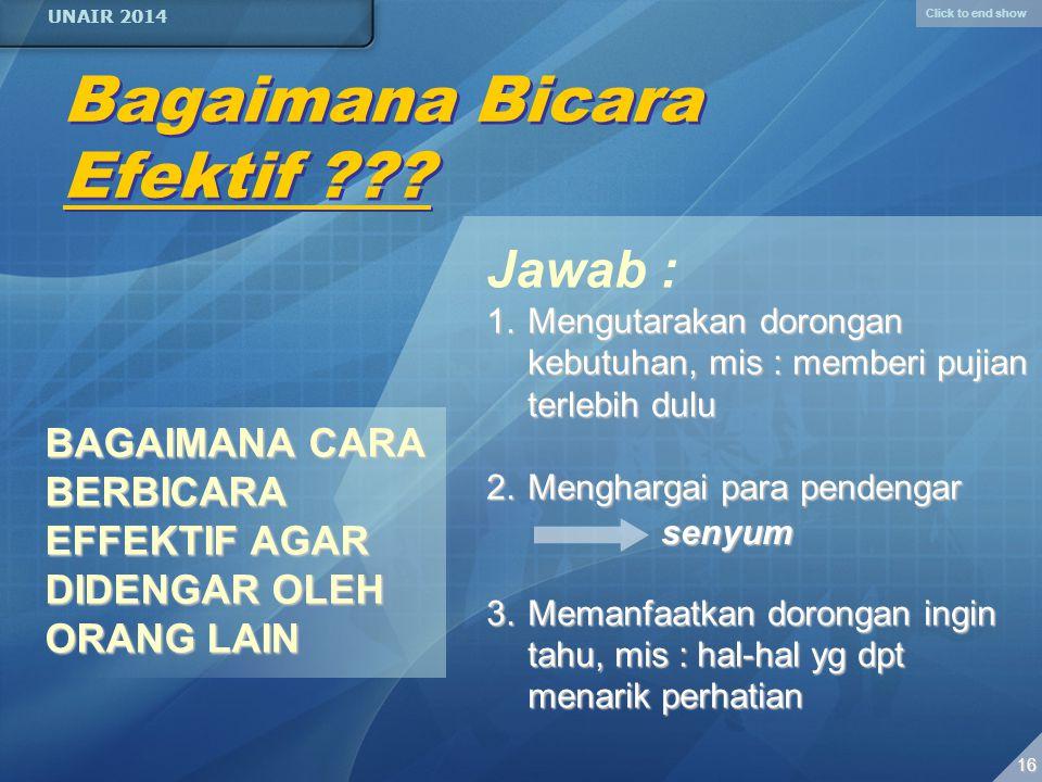 Click to end show UNAIR 2014 15 GAYA BAHASA ASIDENTON Perhatian pd kalimat seluruhnya (seutuhnya).