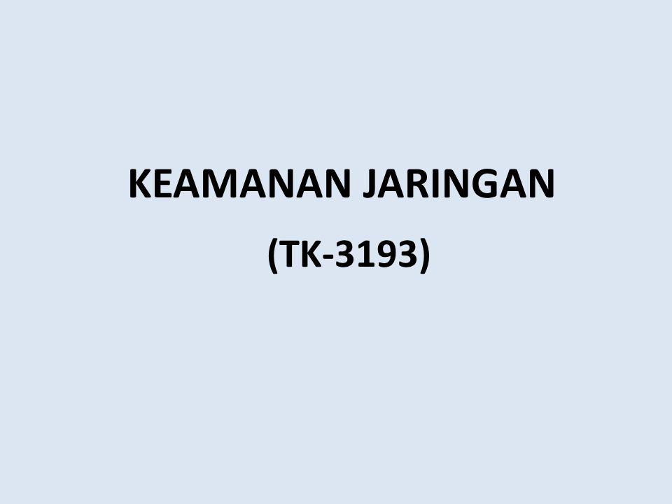 KEAMANAN JARINGAN (TK-3193)