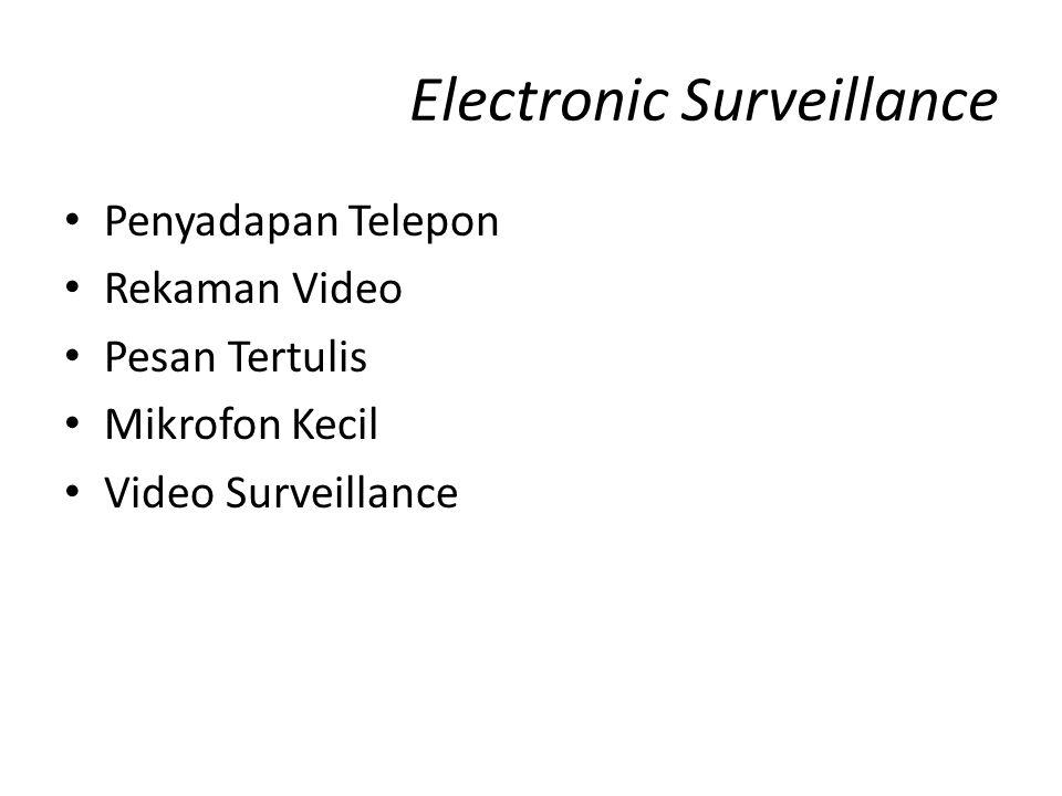 Electronic Surveillance Penyadapan Telepon Rekaman Video Pesan Tertulis Mikrofon Kecil Video Surveillance