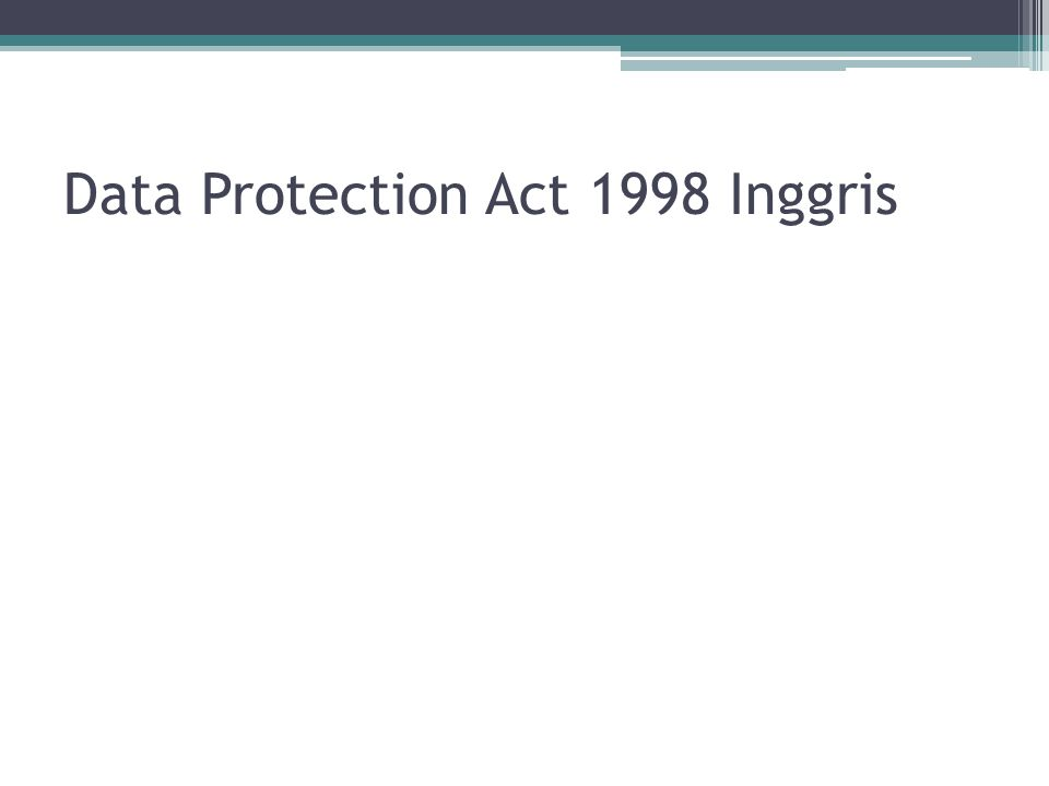 Data Protection Act 1998 Inggris