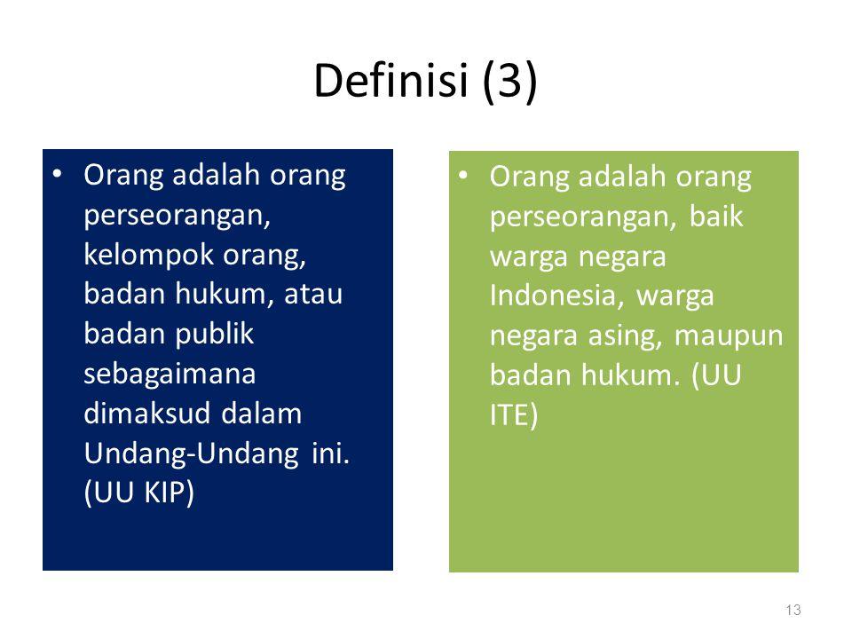 Definisi (2) Badan Publik adalah lembaga eksekutif, legislatif, yudikatif, dan badan lain yang fungsi dan tugas pokoknya berkaitan dengan penyelenggaraan negara, yang sebagian atauseluruh dananya bersumber dari APBN dan/atau APBD, atau organisasi nonpemerintah sepanjangsebagian atau seluruh dananya bersumber dari APBN dan/atau APBD, sumbangan masyarakat,dan/atau luar negeri.