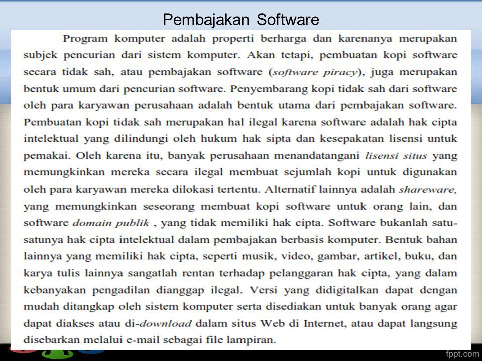 Pembajakan Software