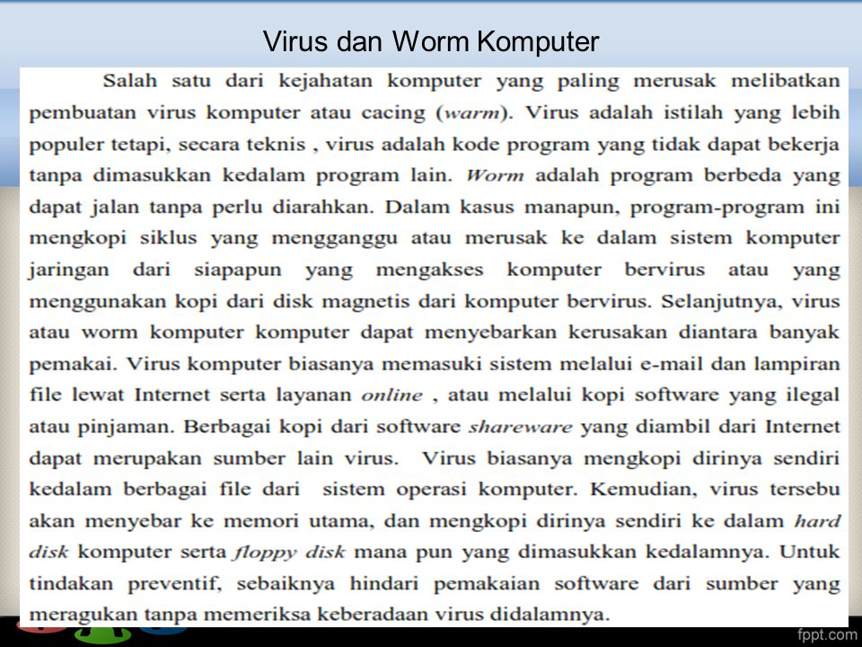 Virus dan Worm Komputer