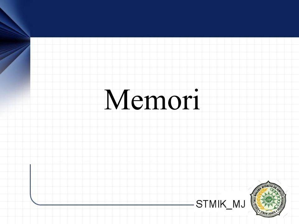 Fisik Media penyimpanan volatile dan non-volatile –Volatile memory, informasi akan hilang apabila daya listriknya dimatikan –Non-volatile memory tidak hilang walau daya listriknya hilang.