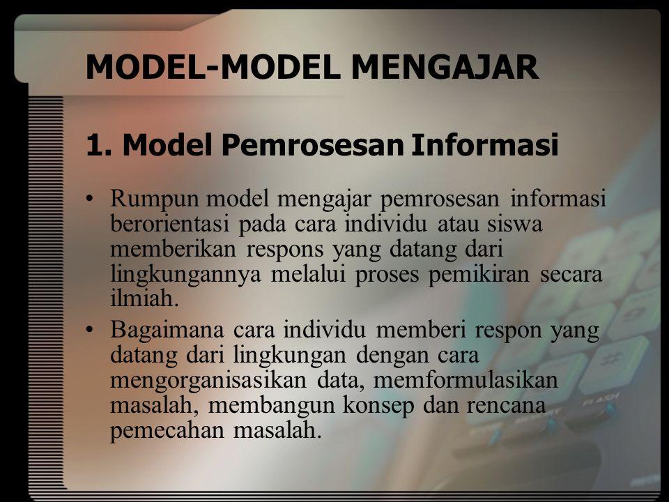 MODEL-MODEL MENGAJAR 1.