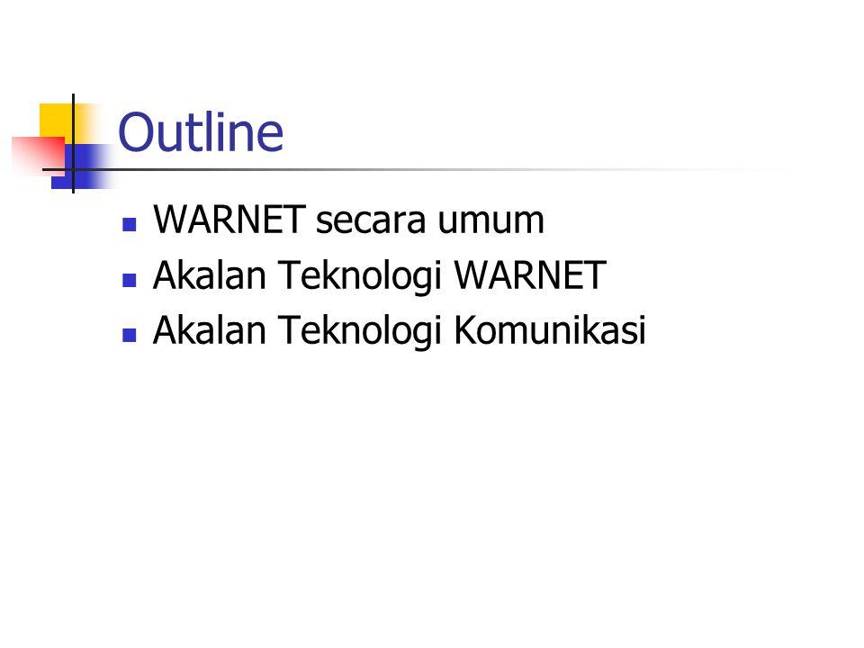 Outline WARNET secara umum Akalan Teknologi WARNET Akalan Teknologi Komunikasi