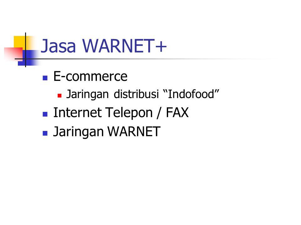 Jasa WARNET+ E-commerce Jaringan distribusi Indofood Internet Telepon / FAX Jaringan WARNET