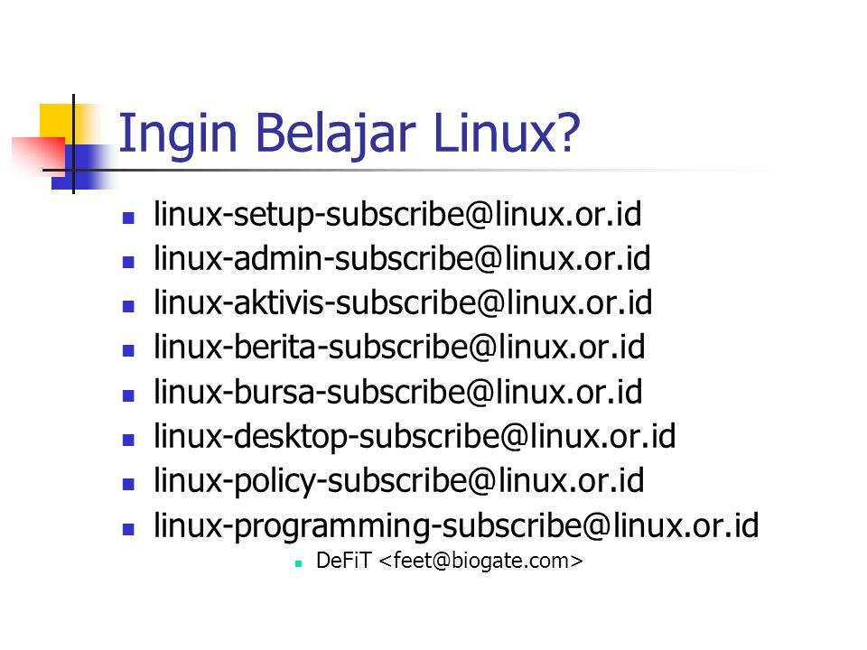 Ingin Belajar Linux.