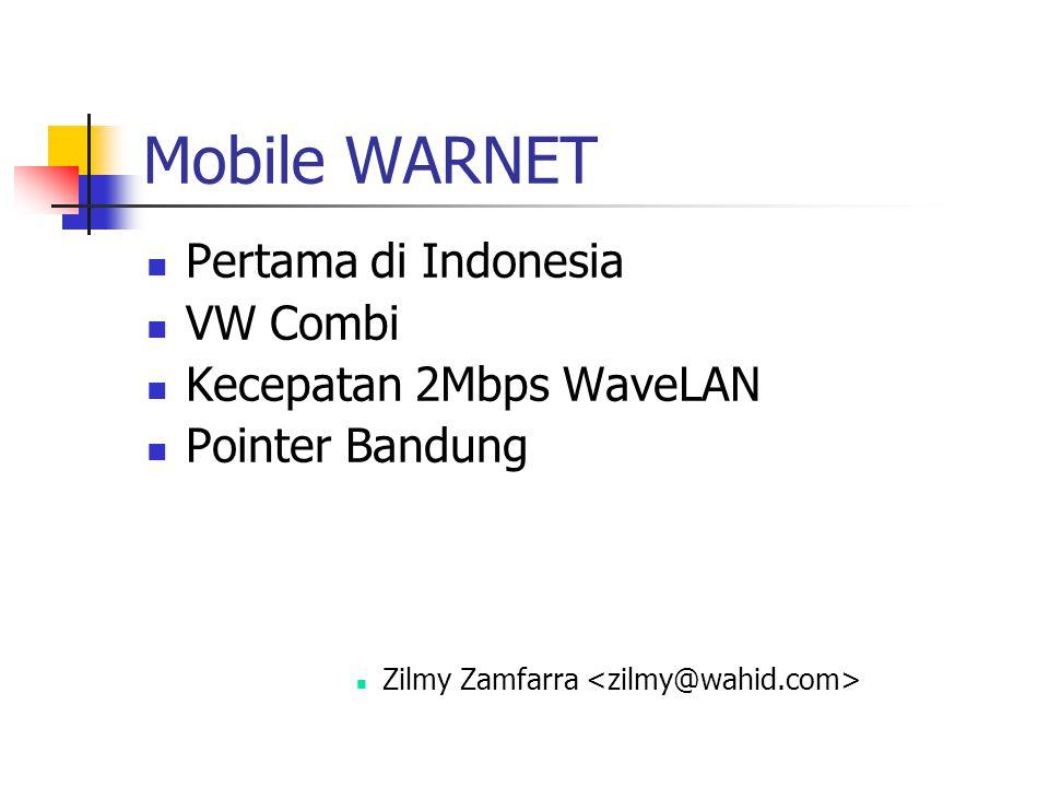 Mobile WARNET Pertama di Indonesia VW Combi Kecepatan 2Mbps WaveLAN Pointer Bandung Zilmy Zamfarra