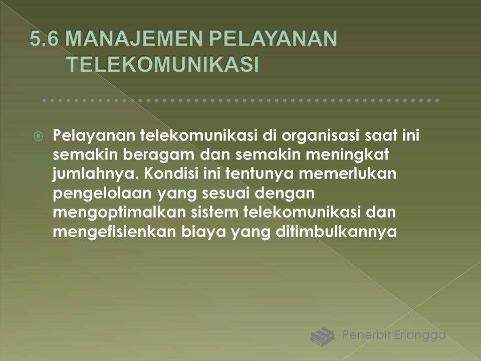  Pelayanan telekomunikasi di organisasi saat ini semakin beragam dan semakin meningkat jumlahnya. Kondisi ini tentunya memerlukan pengelolaan yang se