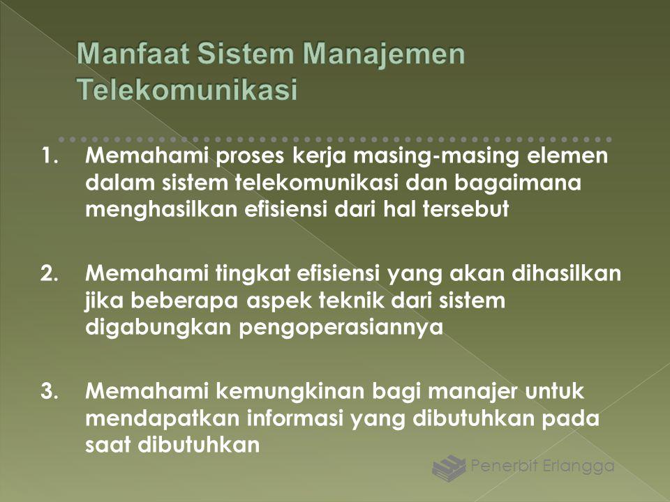 1.Memahami proses kerja masing-masing elemen dalam sistem telekomunikasi dan bagaimana menghasilkan efisiensi dari hal tersebut 2.Memahami tingkat efi