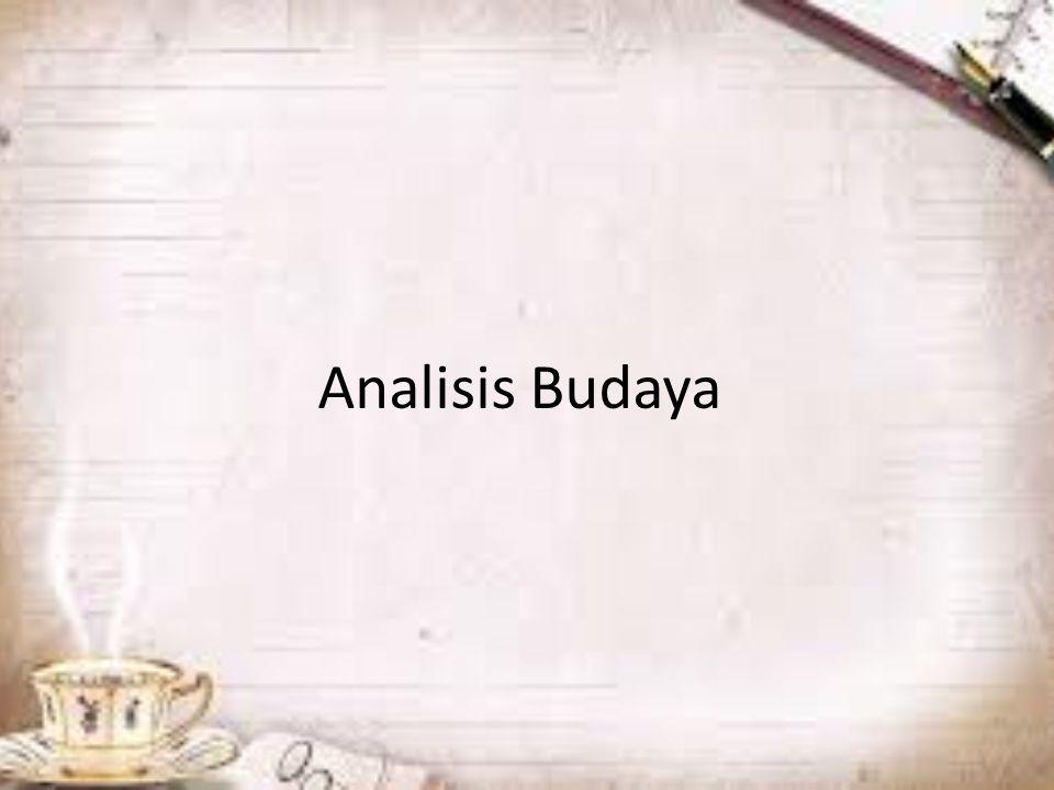 Analisis Budaya