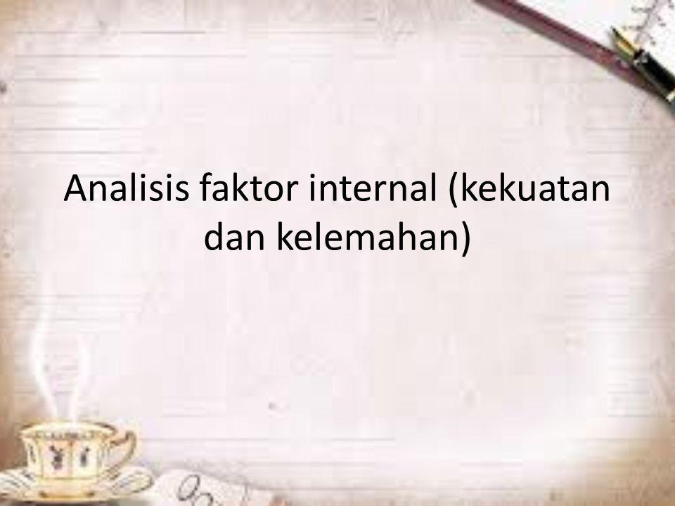 Analisis faktor internal (kekuatan dan kelemahan)