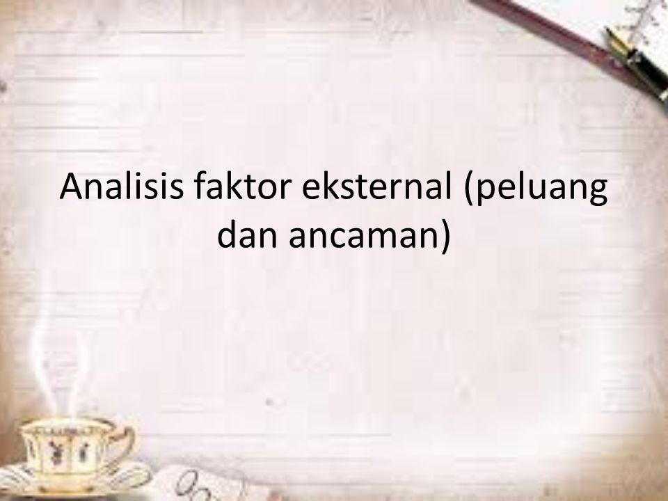 Analisis faktor eksternal (peluang dan ancaman)