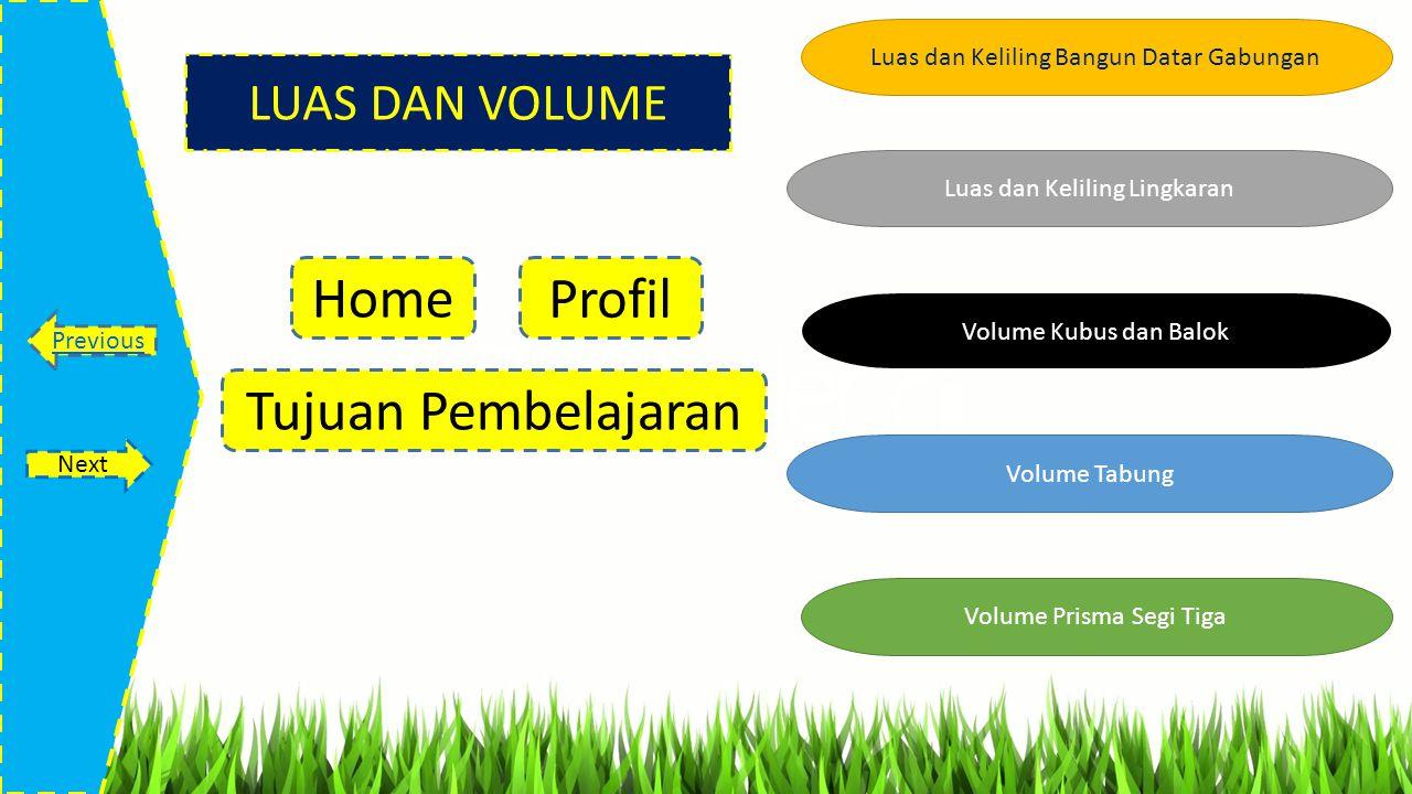 Tentukan Volume Prisma di samping ! Home Previous Next 4 cm 13 cm 7 cm Jawab