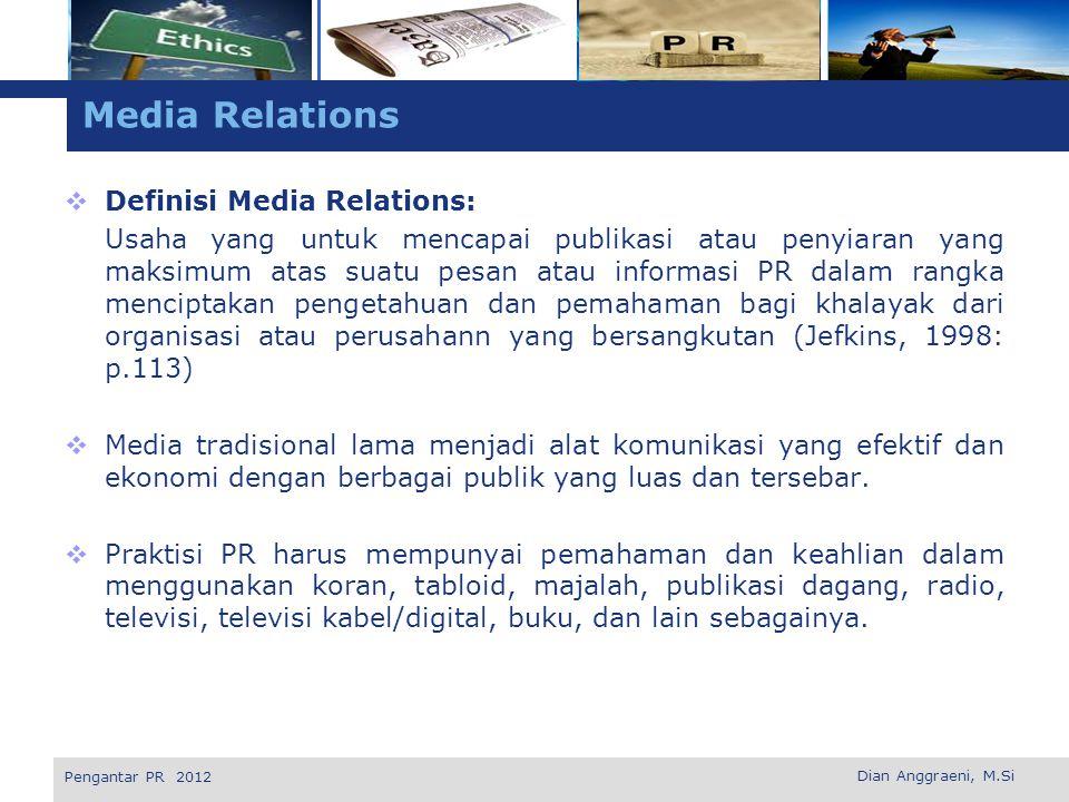 L o g o Jenis Media Massa Tradisional KORAN  Koran tetap merupakan alat utama dalam sistem informasi dan menjadi dasar dari sebagian besar program informasi.
