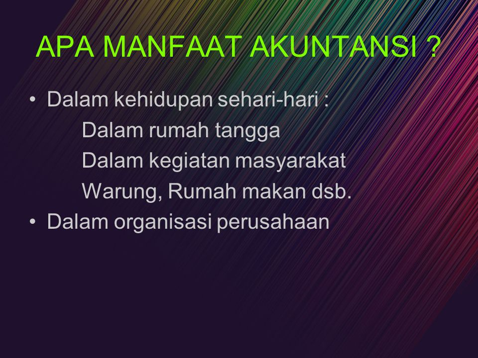 Profesi Akuntansi Private Accounting –Controller –Management Accountant –Internal Auditor Public Accounting –Independent Auditor