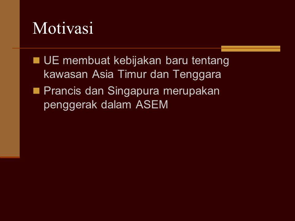 Perluasan Keanggotaan Sejak Oktober 2005, anggota ASEM bertambah 13 negara sehingga jumlah anggota menjadi 39 negara 13 negara tsb adalah - 10 negara anggota baru Uni Eropa - 3 anggota ASEAN : Laos, Myanmar, Kamboja