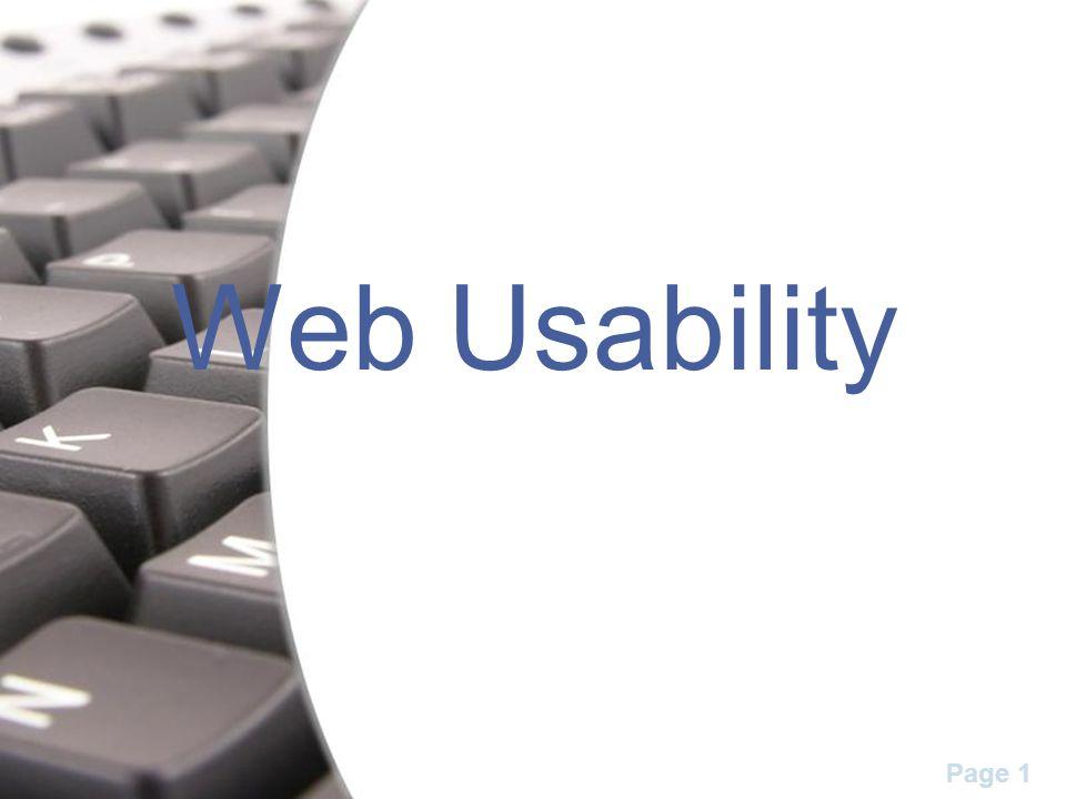 Page 1 Web Usability