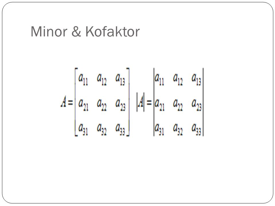 Minor & Kofaktor