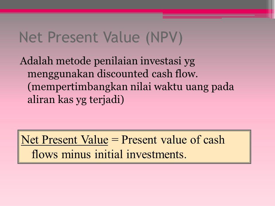 Average Rate of Return (ARR) Metode ini mengukur tingkat keuntungan rata- rata dari suatu investasi ARR dihitung dari rata-rata CF yang diharapkan sep