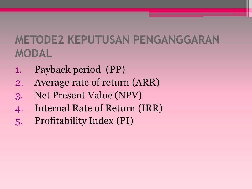 Net Present Value Example – continued 16,000 jt 450,000jt 466,000jt 0 1 2 3 Present Value 14,953 380,395 409,323