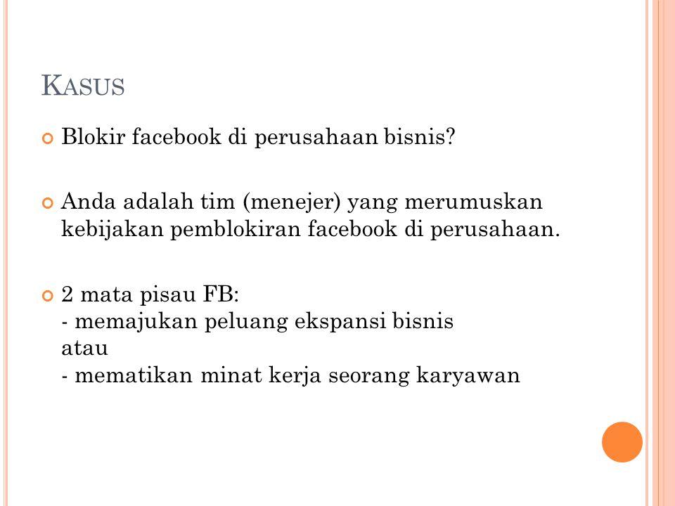 K ASUS Blokir facebook di perusahaan bisnis.