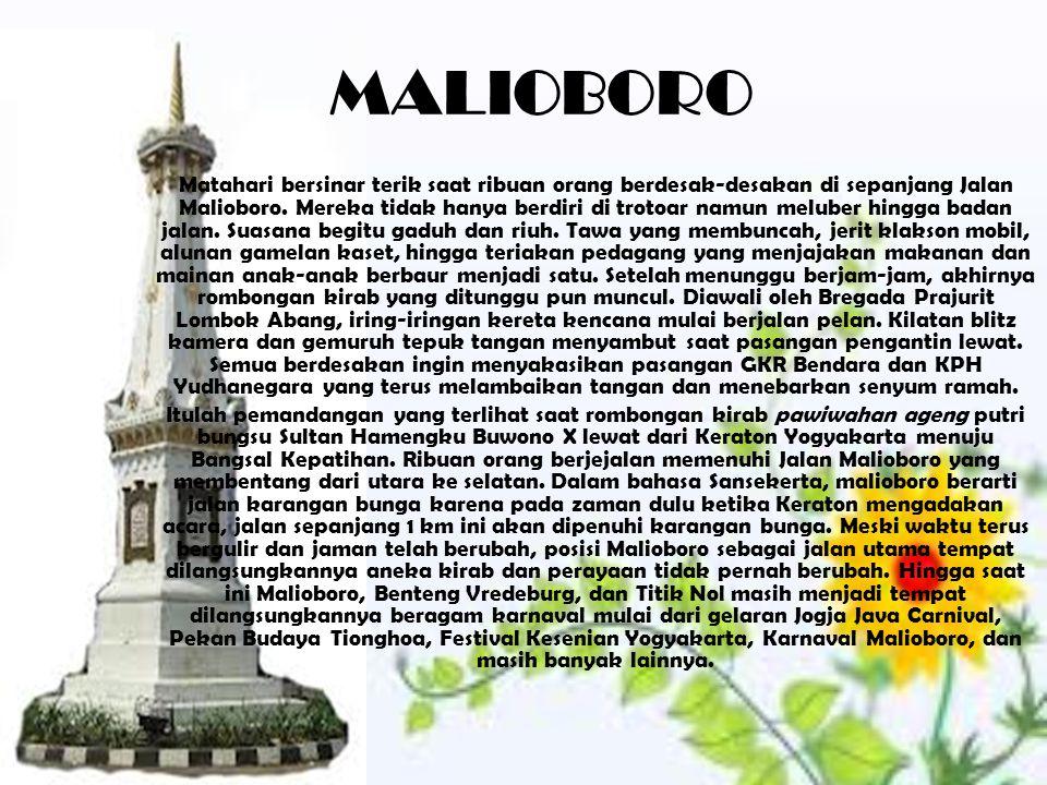 TUGU JOGJA Tugu Yogyakarta adalah sebuah tugu atau menara yang sering dipakai sebagai simbol/lambang dari kota Yogyakarta.