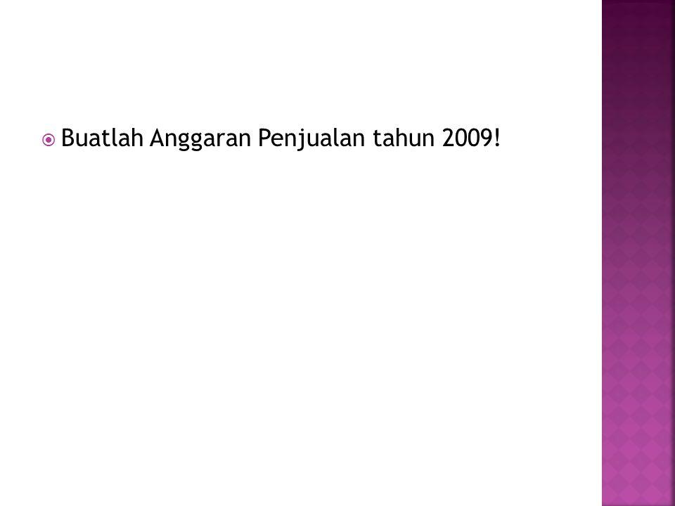  Buatlah Anggaran Penjualan tahun 2009!