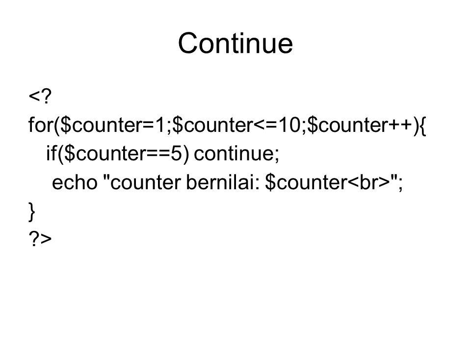 Continue <.