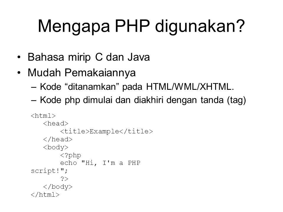 Mengapa PHP digunakan.