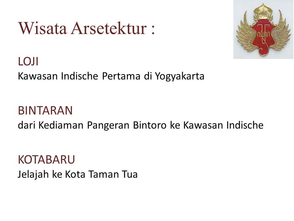 Wisata Arsetektur : LOJI Kawasan Indische Pertama di Yogyakarta BINTARAN dari Kediaman Pangeran Bintoro ke Kawasan Indische KOTABARU Jelajah ke Kota T