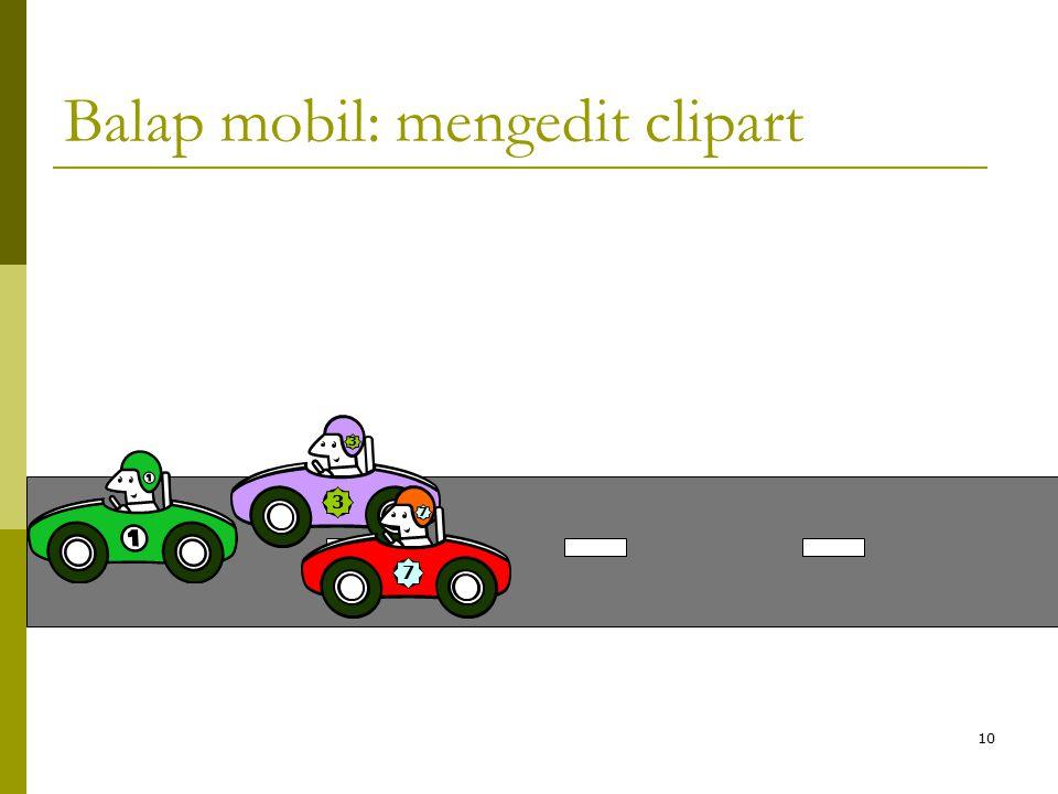 10 Balap mobil: mengedit clipart 3 3 7 7