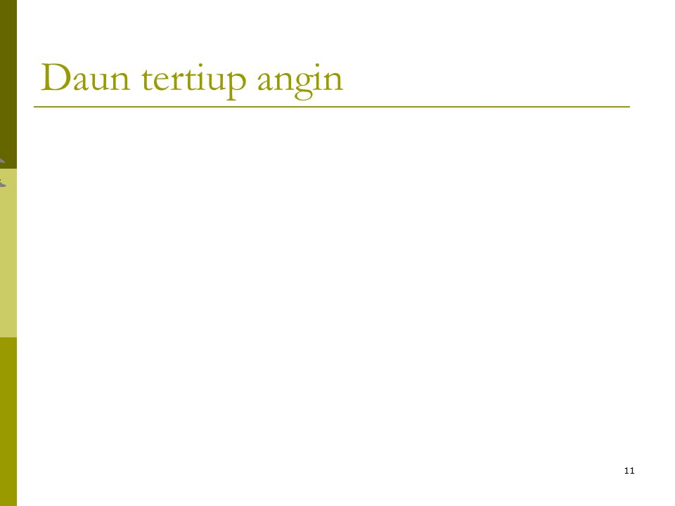 11 Daun tertiup angin