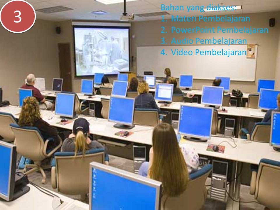 Bahan yang diakses: 1.Materi Pembelajaran 2.PowerPoint Pembelajaran 3.Audio Pembelajaran 4.Video Pembelajaran 3 3