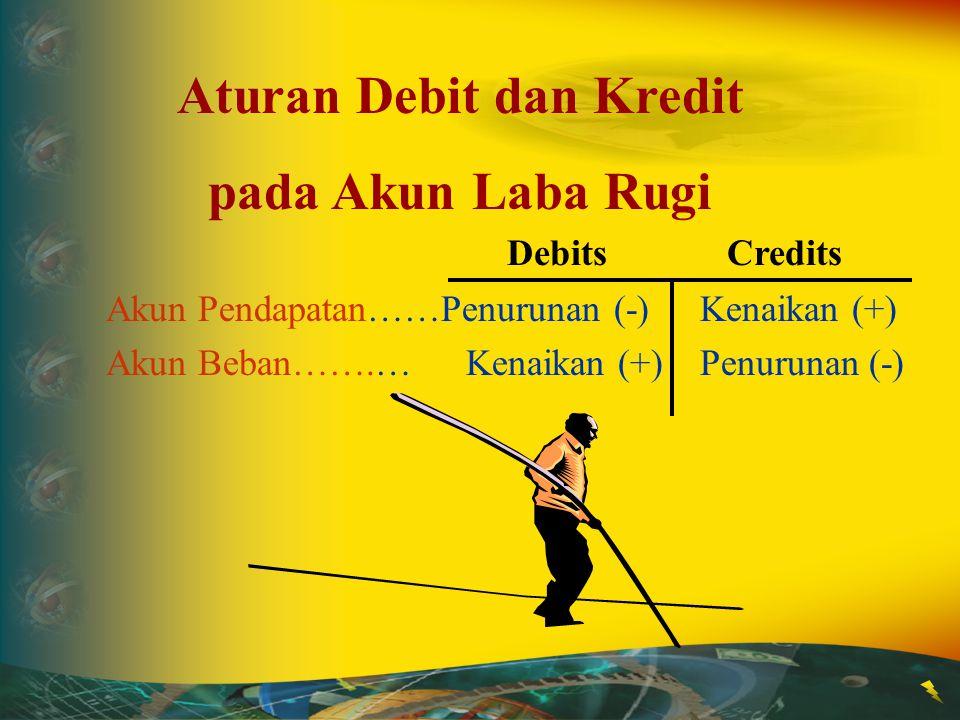 Ingat !!! Setiap melakukan jurnal, jumlah total sisi debit harus sama dengan total sisi kreditnya Ingat !!! Setiap melakukan jurnal, jumlah total sisi