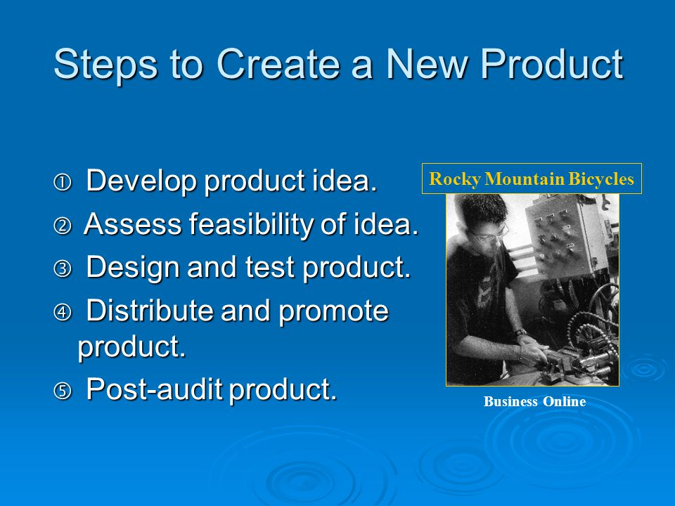 Research and Design Purpose:  Develop and test new products.