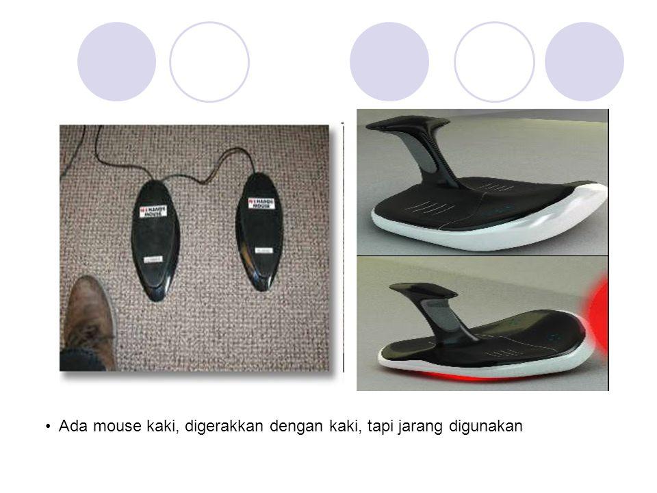 Ada mouse kaki, digerakkan dengan kaki, tapi jarang digunakan