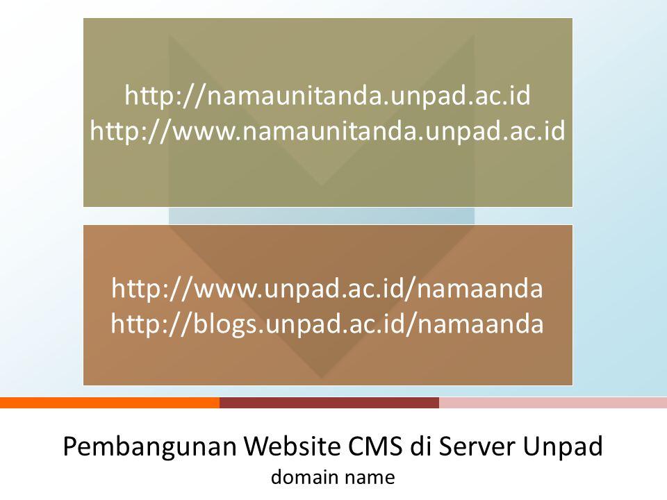 Pengelolaan Website Unpad Sekilas Website di Unpad