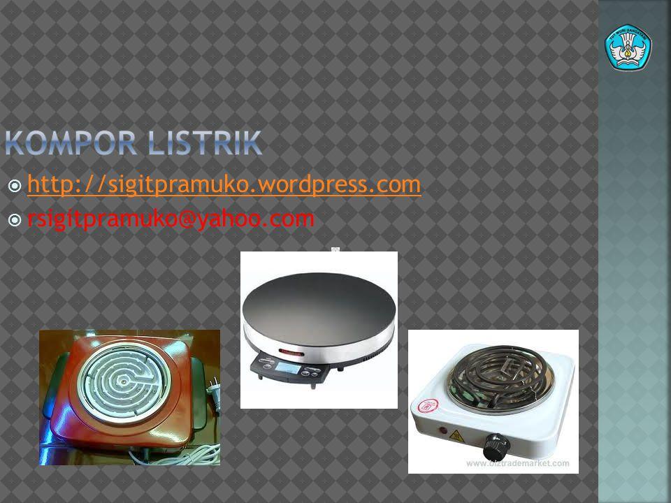 Teknologi dan Rekayasa A.PENGANTAR Kompor listrik merupakan alat yang sangat akrab di lingkungan rumah tangga karena sebagian besar warga mayarakat menggunakannya sebagai alat untuk masak memasak.