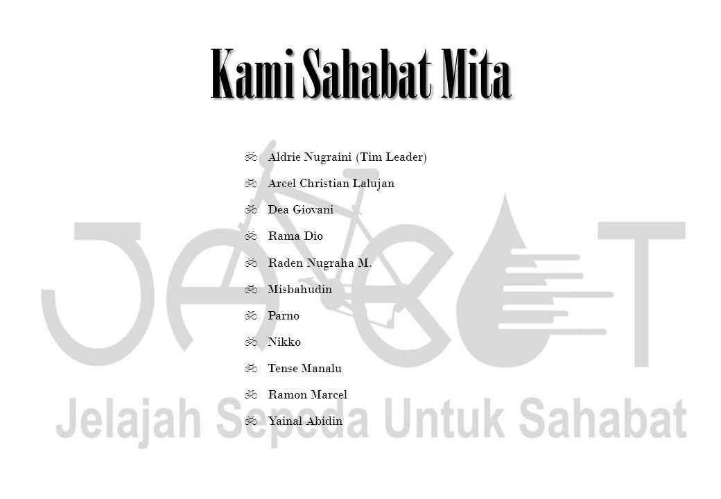 Kami Sahabat Mita  Aldrie Nugraini (Tim Leader)  Arcel Christian Lalujan  Dea Giovani  Rama Dio  Raden Nugraha M.  Misbahudin  Parno  Nikko 