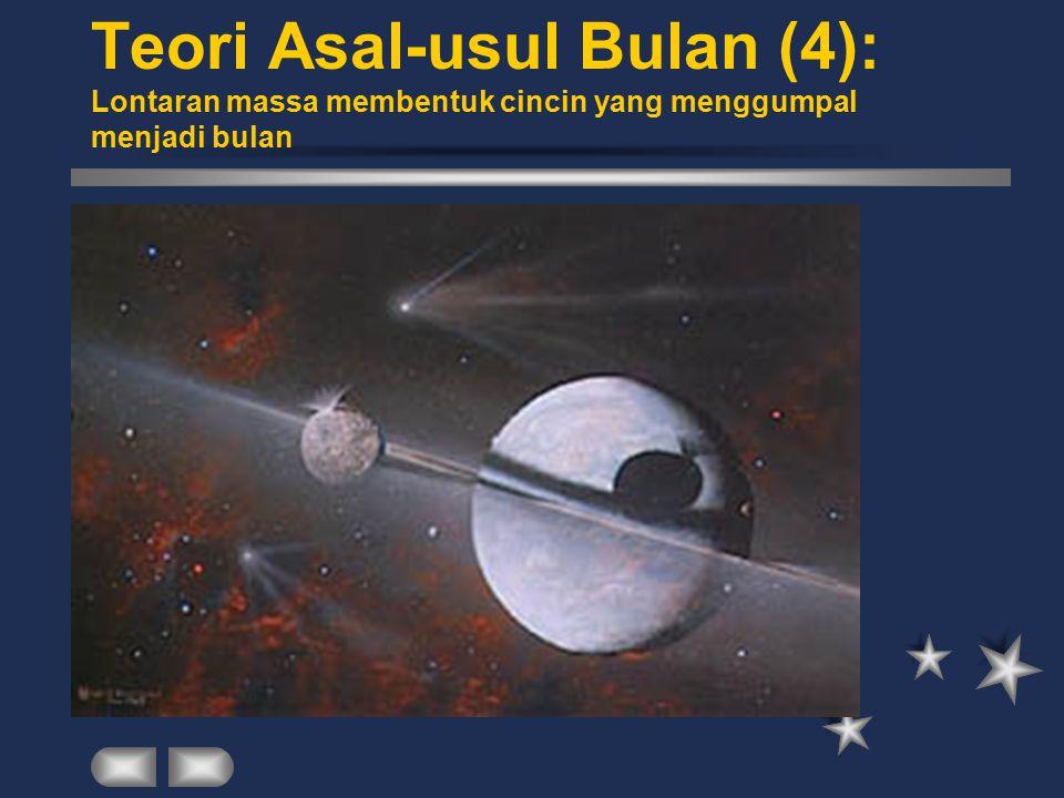 Teori Asal-usul Bulan (4): Lontaran massa membentuk cincin yang menggumpal menjadi bulan