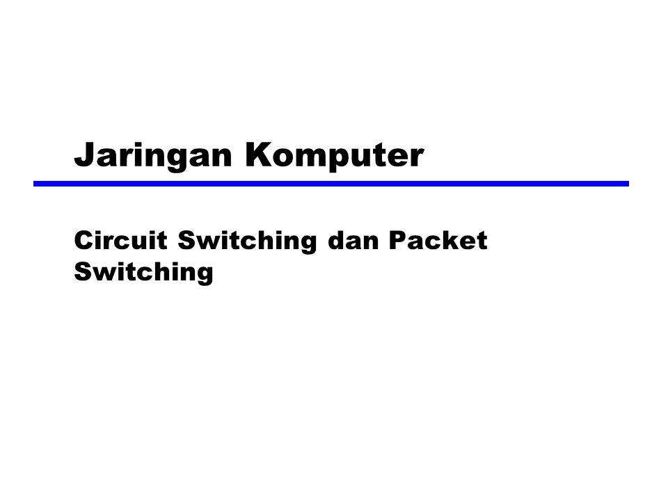 Jaringan Komputer Circuit Switching dan Packet Switching