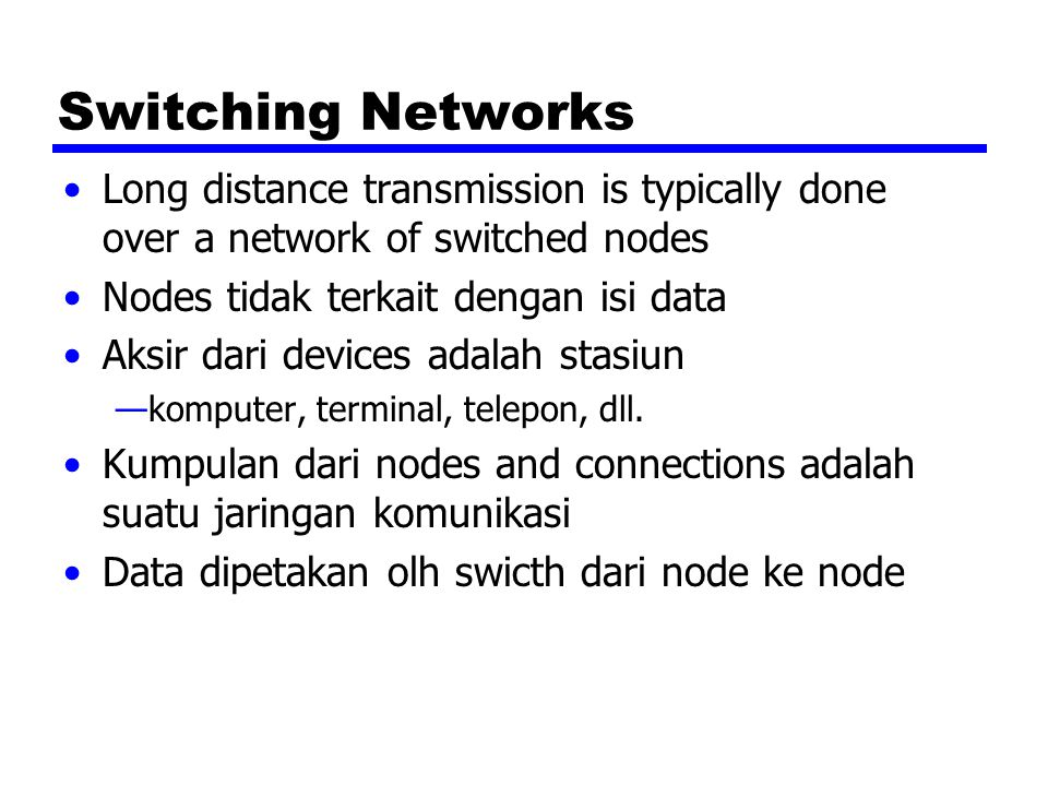 Informasi tambahan Stallings bab 10 ITU-T web site Telephone company web sites (not much technical info - mostly marketing) X.25 info from ITU-T web site Frame Relay forum