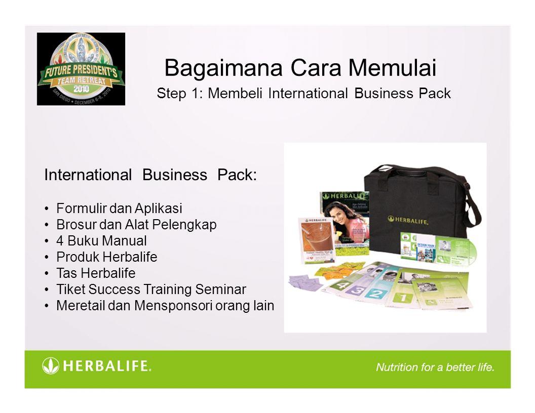 Bagaimana Cara Memulai Step 1: Membeli International Business Pack International Business Pack: Formulir dan Aplikasi Brosur dan Alat Pelengkap 4 Buku