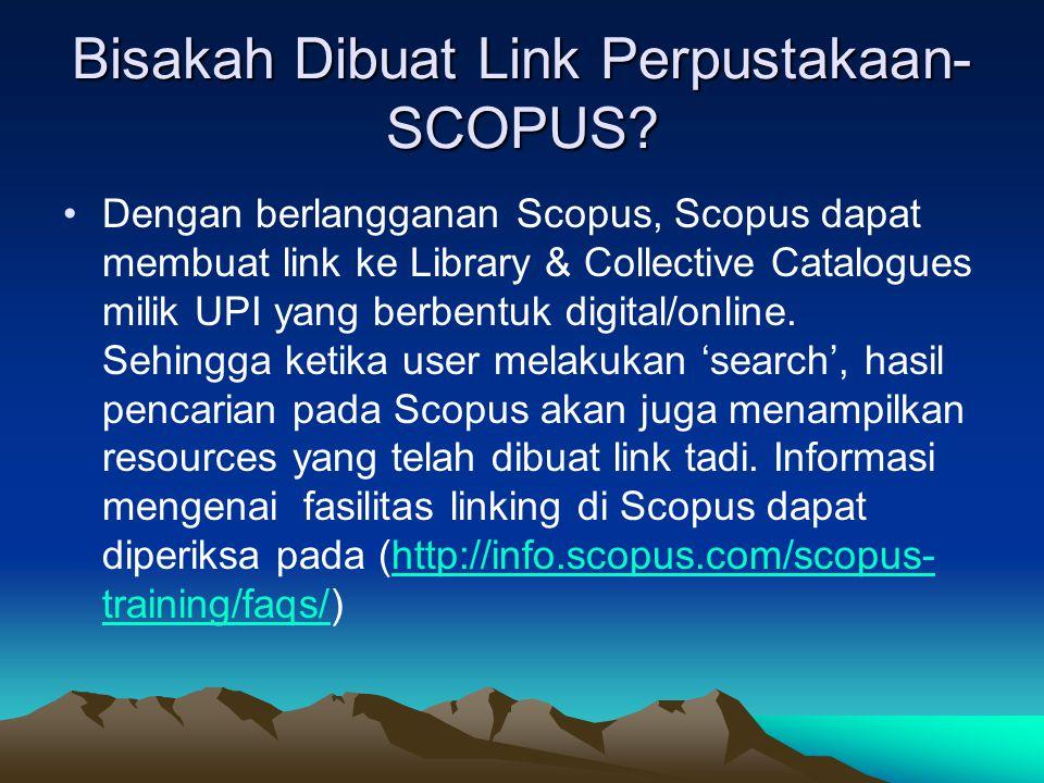Bisakah Dibuat Link Perpustakaan- SCOPUS.
