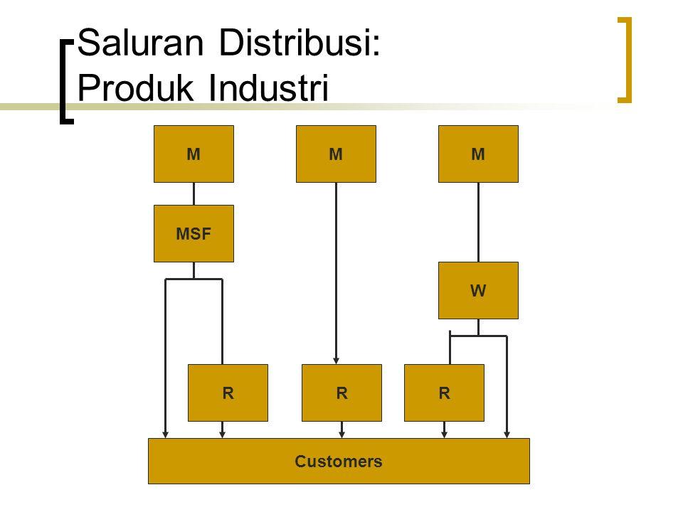 Distribusi Fisik dan Logistik Merupakan suatu perantara dimana produk tersedia bagi pelanggan, baik kapan maupun dimana.