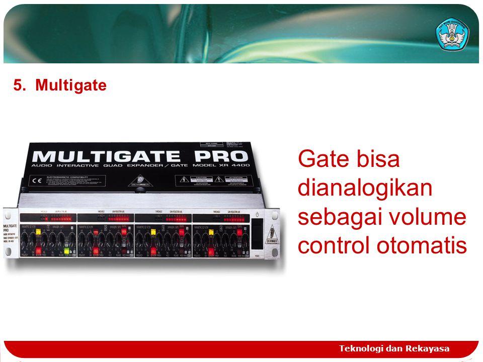 Teknologi dan Rekayasa 5. Multigate Gate bisa dianalogikan sebagai volume control otomatis