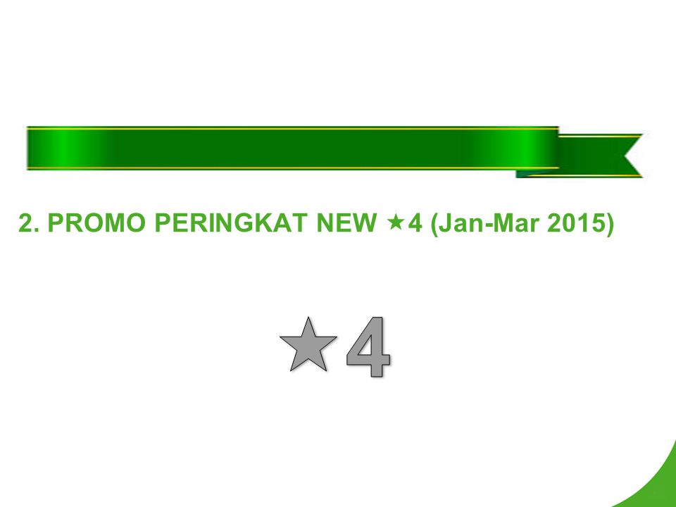 2. PROMO PERINGKAT NEW  4 (Jan-Mar 2015)